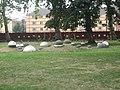 St Mary's churchyard gardens butts.JPG