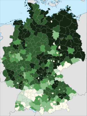 Poles in Germany - Distribution of Polish citizens in Germany (2014)