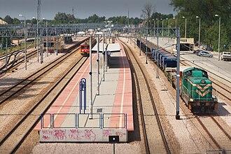 Legionowo railway station - Image: Stacja kolejowa Legionowo