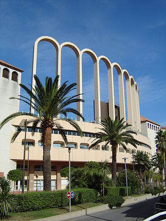 AS Monaco FC - The iconic nine arches of the Stade Louis II.