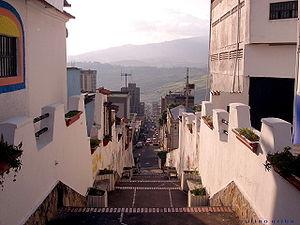 San Cristóbal, Táchira - Stairs down to San Cristobal.