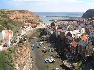 Staithes - View of the harbour from above