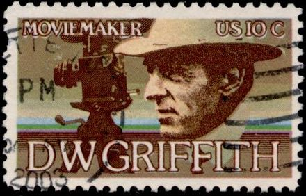 Stamp issued by the United States Postal Service commemorating D. W. Griffith Stamp US 1975 10c Griffith.jpg