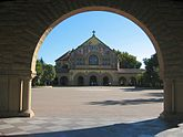 October 1 Stanford University opens its doors. Stanford University Quad Memorial Church.JPG