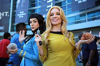 Trekkie - Two female cosplayers, at WonderCon 2017 =.