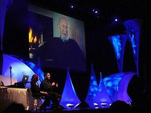 Irvin Kershner - Irvin Kershner sends a message to a crowd at Star Wars Celebration V.