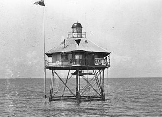 Moreton Bay - Moreton Bay Pile Light, circa 1912