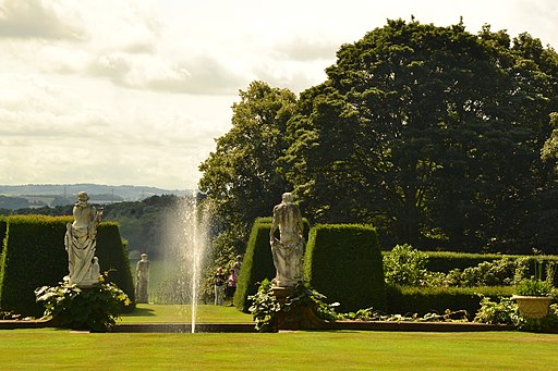 Statuary and fountain, Renishaw Hall-geograph-3583717-by-Peter-Barr