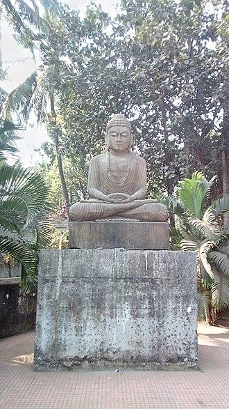 Nala Sopara - Statue Of Buddha At Sopara Stupa.