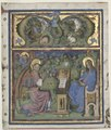 Stefano da Verona - Initial Missus est Excised from an Antiphonary- The Annunciation - 1924.431 - Cleveland Museum of Art.tif