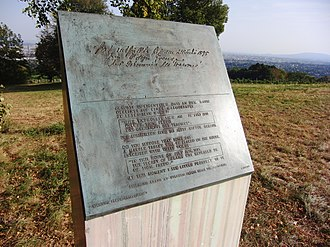 The Interpretation of Dreams - Memorial plate in commemoration of the place where Freud began The Interpretation of Dreams, near Grinzing, Austria