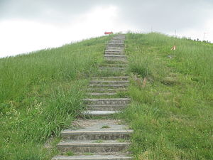 Poverty Point - Steps (closed to the public at times) to top of Mound A