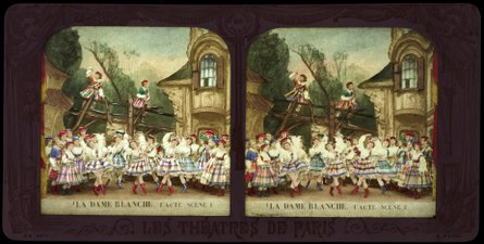 Stereokort, La Dame blanche 1, acte I, scène I - SMV - S162b.tif