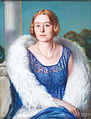 Sternad – Portrait of a lady in a blue lace dress, 1929.jpg