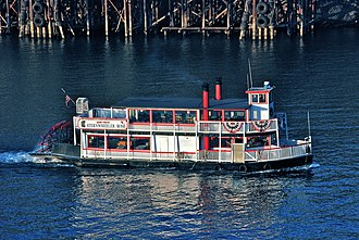 Tourist sternwheelers of Oregon - The Rose in Portland in 2009
