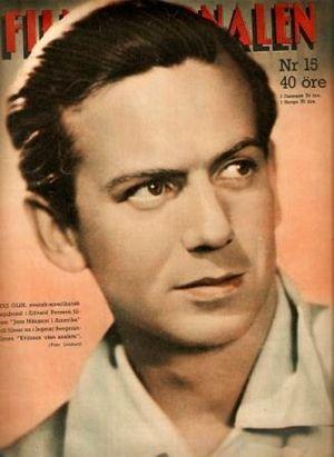 Stig Olin - Stig Olin in Filmjournalen, 1947.
