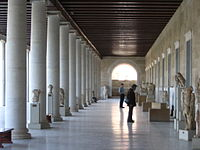 The Agora at Athens surrounded by the Stoa of Attalos