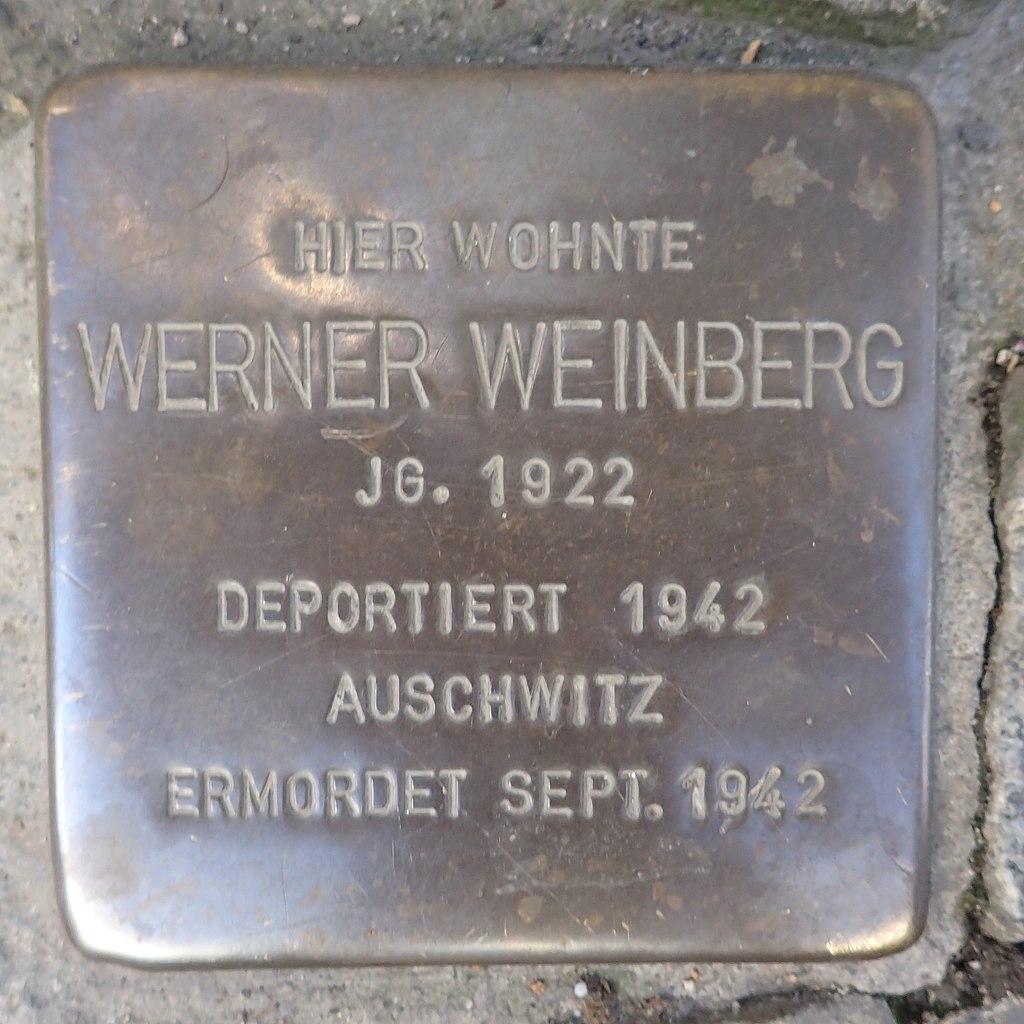 Stolperstein Andernach Hochstraße 62 Werner Weinberg