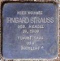 Stolperstein Arnstadt Ried 7-Irmgard Strauss.JPG