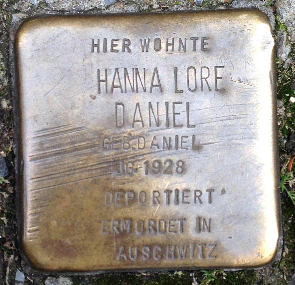 Stolperstein Haltern Rekumer Straße 5 Hanna Lore Daniel
