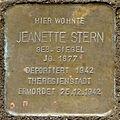 Stolperstein Jeanette Stern (Am Fauerbach 34 Fauerbach vor der Höhe).jpg
