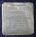 Stolperstein Johannisberger Str 3 (Wilmd) Ullrich Joachim Chotzen.jpg