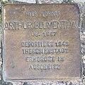 Stolperstein Kaiserdamm 115 (Charl) Arthur Blumenthal.jpg