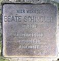 Stolperstein Martin-Luther-Str 127 (Schöb) Beate Schindler.jpg