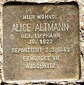 Stolperstein Stierstr 21 (Fried) Alice Altmann.jpg