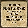 Stolperstein für Irene Fleischer (Cottbus).jpg