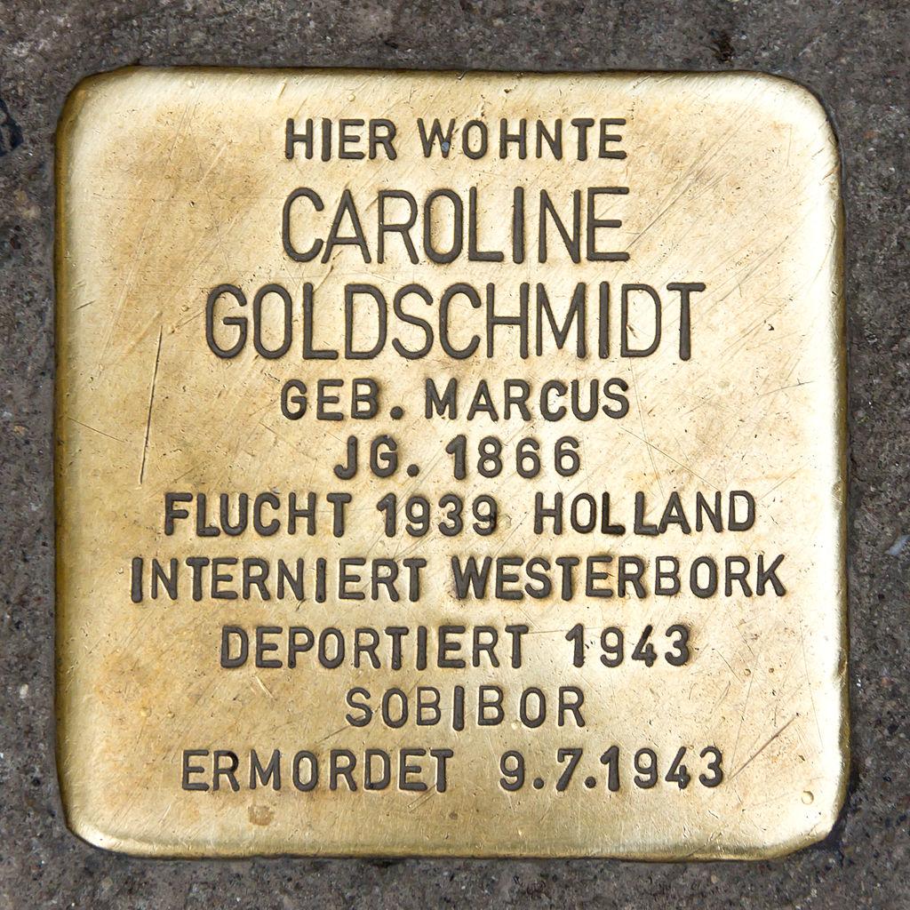 Stolpersteine für Goldschmidt, Domkloster 1, Köln-5526.jpg