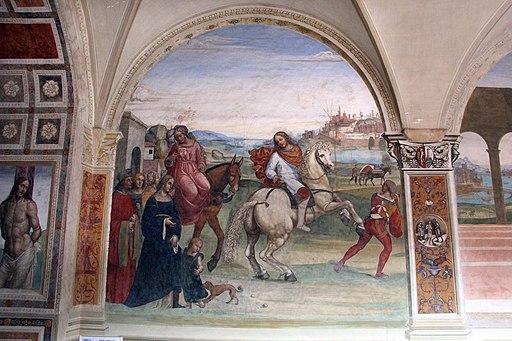 Il Sodoma, Come Benedetto lascia la casa paterna e recasi a studio a Roma