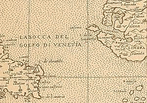 Strait of Otranto - The Strait of Otranto on a map from the early 17th century