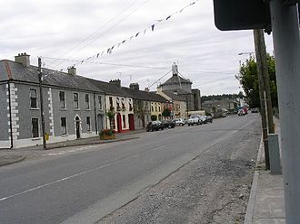 Stradbally - View from Church Lane of the Gordon Bennett Cup circuit at Stradbally