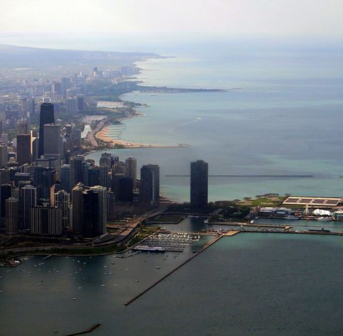 Hotels In Chicago >> File:Streeterville, Chicago, Illinois and Lake Michigan ...