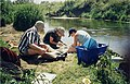 Students sorting River Roding catch - geograph.org.uk - 1430564.jpg