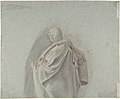 Study of a Kneeling Man; verso- Cropped Study of a Standing Man in a Cloak MET DP801469.jpg