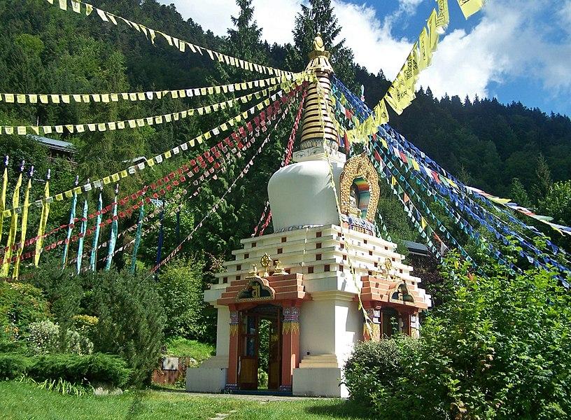 Sight of Stupa of Karma Ling in Arvillard in Savoie, France.