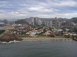 Vitória, Espírito Santo - Praia do Sua, and one of the malls of the island.