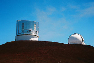 Mauna Kea Observatories - The Subaru Telescope and the Keck I Telescope Dome