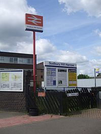 Sudbury Hill Harrow stn entrance.JPG