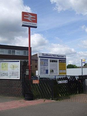 Sudbury Hill Harrow railway station - Image: Sudbury Hill Harrow stn entrance