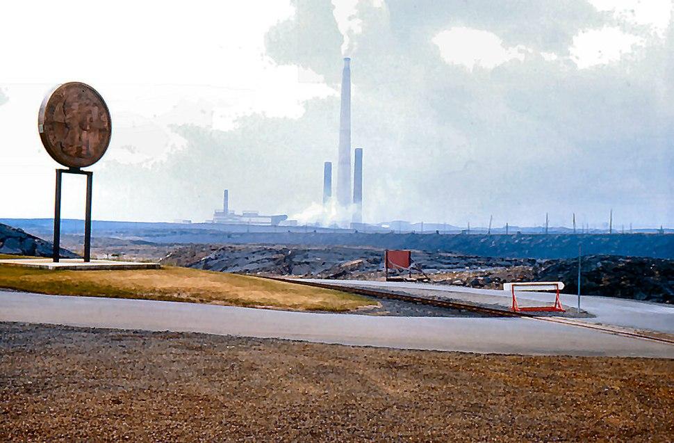 Sudbury smokestack 1976