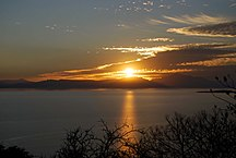 Jalisco--Sunset at Lake Chapala