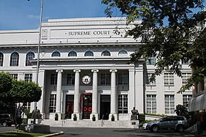 Politics of the Philippines - Facade of the Supreme Court Building
