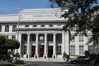 Supreme Court of the Philippines - The facade of the Supreme Court Building at Padre Faura Street, Ermita, Manila.