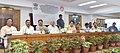 Suresh Prabhakar Prabhu addressing at the dedicationinaugurationflagging off of namely 1. Inauguration of Lift on Platform No. 45 at Bhopal Station. 2. Inauguration of the New Passenger Amenities Bhubaneswar.jpg