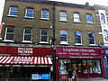 Sutton, Surrey London Sutton High Street - Brasserie Vacherin and opticians.JPG