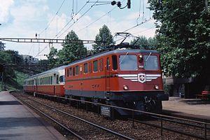 "Ae 6/6 11422 ""Vaud"" in front of an SBB RAe TEE II as TEE Gottardo."