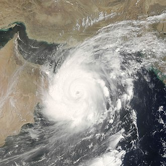 Cyclone Gonu - Tropical Cyclone Gonu off the coast of Oman on June 7